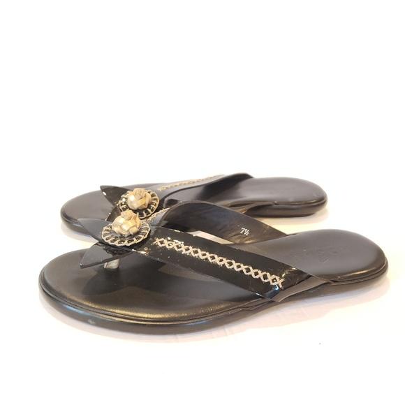 women's luxury flip flops